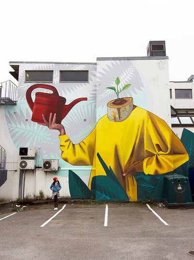 Artez Art for All in the World Street Art Project Sandefjord Norway 2017 Photo Credit Art for All in the World